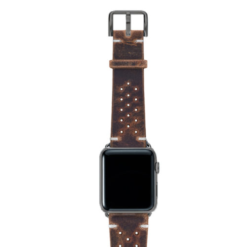 Care-AW-brown-calf-leatehr-band-with-holes-with-case-space-grey