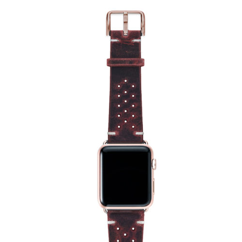 Promise-AW-red-calf-leather-band-with-holes-and-case-alum-gold-series4