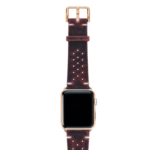 Promise-AW-red-calf-leather-band-with-holes-and-case-stainless-gold-series4