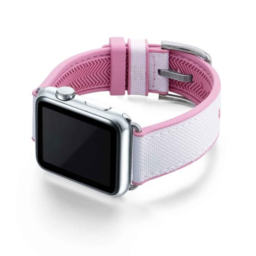 Pink-Sand-AW-white-rubber-band-with-pink-lining-and-case-on-left