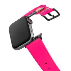 Iced-Watermelon-AW-pink-fluo-nappa-band-with-case-on-air