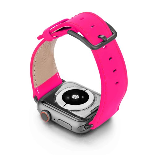 Iced-Watermelon-AW-pink-fluo-nappa-band-with-case-on-back
