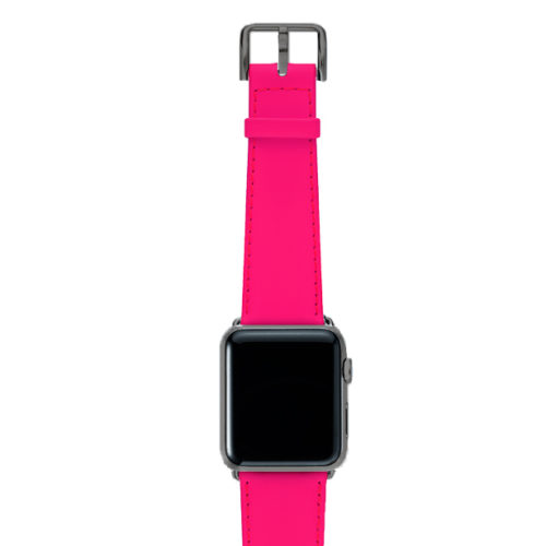 Iced-Watermelon-AW-pink-fluo-nappa-band-with-case-space-grey