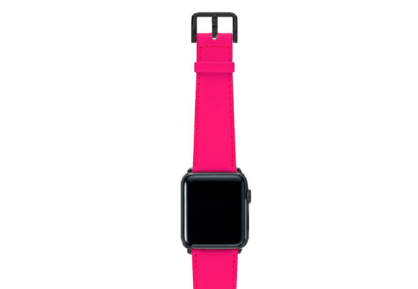Iced-Watermelon-AW-pink-fluo-nappa-band-with-case-stainless-black