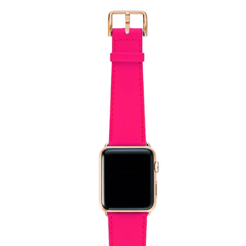 Iced-Watermelon-AW-pink-fluo-nappa-band-with-case-stainless-gold-4