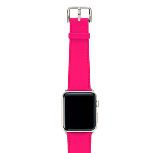 Iced-Watermelon-AW-pink-fluo-nappa-band-with-case-stainless-steel