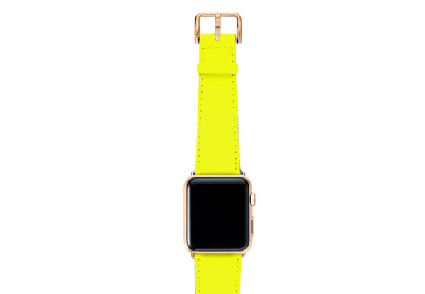 Laser-Lemon-AW-yellow-fluo-nappa-band-with-case-stainless-gold-4