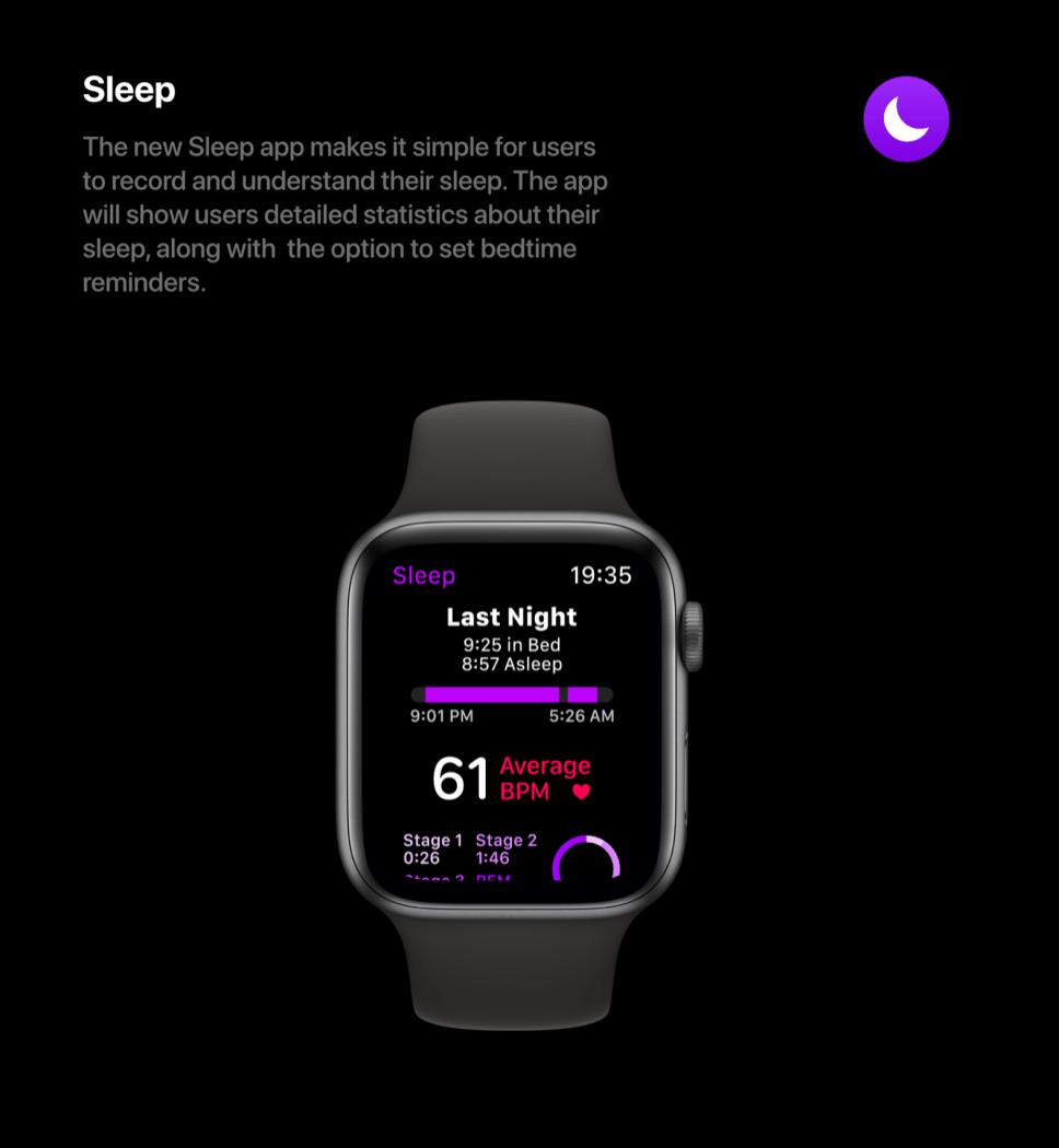 sleep tracking watchOS 6