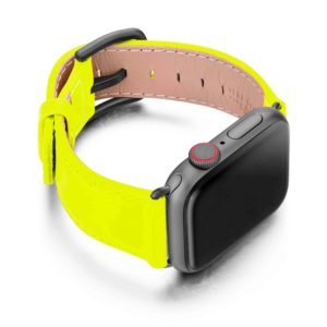 laser-lemon-Apple-watch-fluo-band-with-case-on-right
