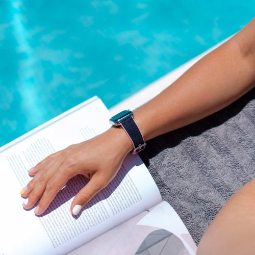 Blue-Abyss-Apple-watch-rubber-band-swimming-workout