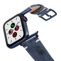 Moon-Sky-AW-ancient-leather-band-on-air-with-blue-adapters