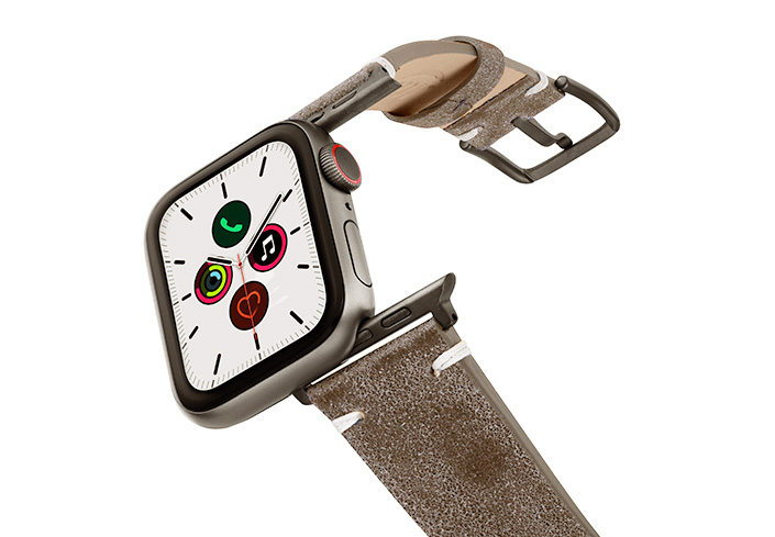 Muted-Stone-AW-grey-ancient-leather-band-on-air-with-space-grey-adapters