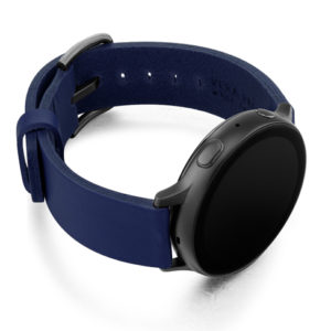 Blue-England-leather-band-with-case-on-right-and-space-grey