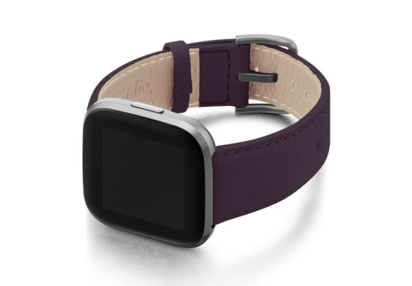 Burgundy-Fitbit-nappa-band-with-left-case