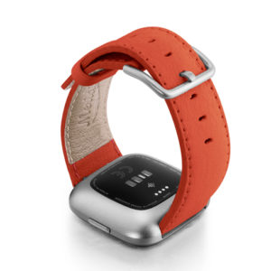 Coral-Fitbit-nappa-leather-band-with-back-case