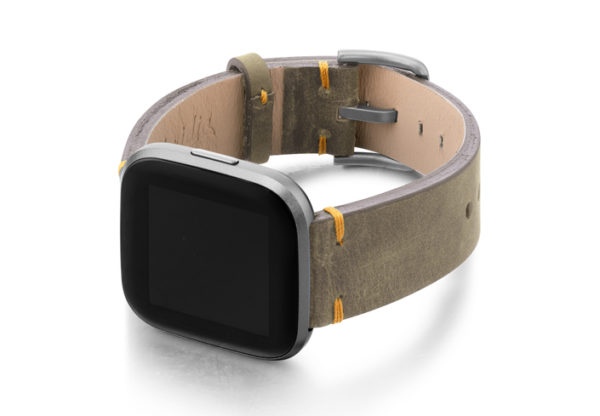 Dried-herb-Fitbit-vintage-leather-band-with-left-case