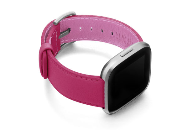 Scarlets-Velvet-Fitbit-nappa-leather-band-with-case-on-right
