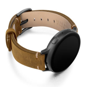 Smoked-walnut-Galaxy-Watch-calf-Leather-band-with-case-on-right