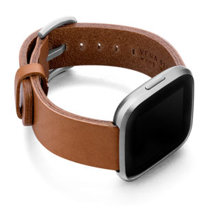 Tawny-Fitbit-brown-full-grain-leather-band-with-case-on-right