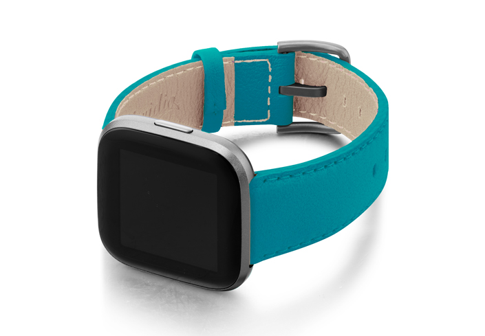Turquoise-Fitbit-nappa-band-with-left-case