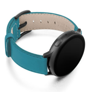 Turquoise-Galaxy-watch-active-nappa-band-with-right-case