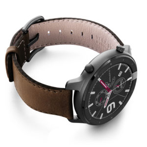 Amazfit-GTR-chestnut-brown-nappa-leather-band-with-display-on-right