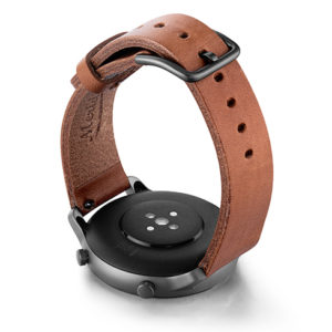 Amazfit-GTR-light-brown-full-grain-leather-band-with-case-on-BACK