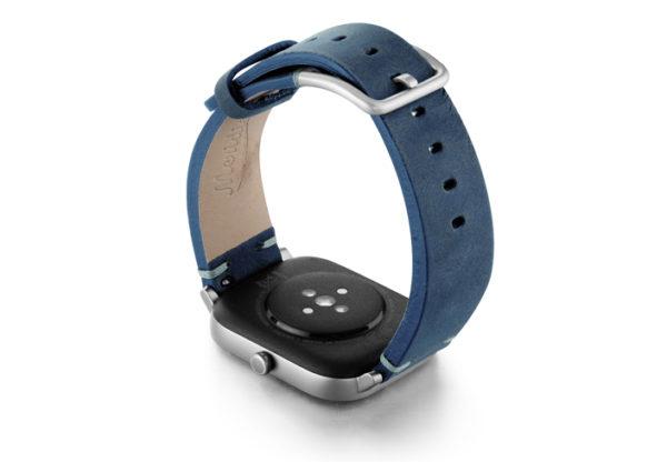 Amazfit-GTS-artic-blue-vintage-leather-band-back-case