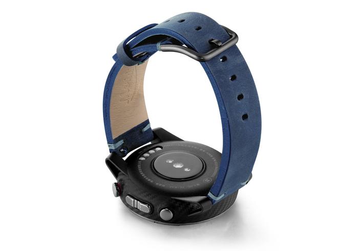 Amazfit-Stratos-artic-blue-vintage-leather-band-back-case