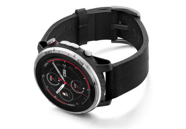 Amazfit-Stratos-cassel-clay-leather-band-with-displey-on-left