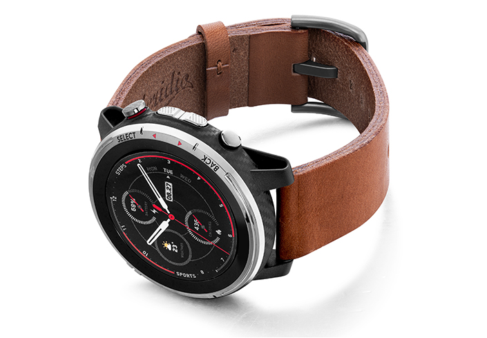 Amazfit-Stratos-light-brown-full-grain-leather-band-with-case-on-left
