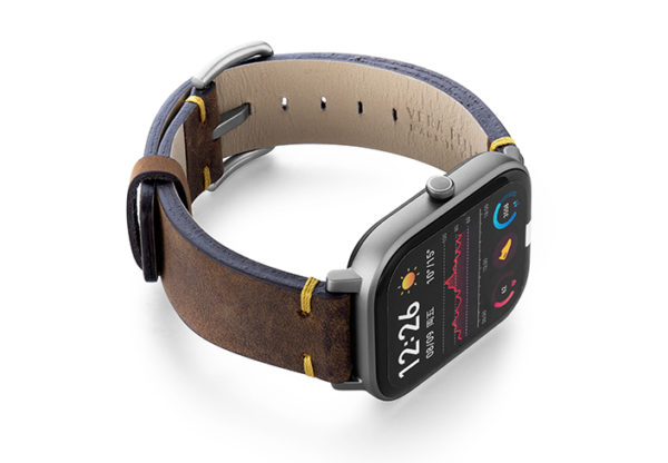 Amazfit-GTS-old-brown-vintage-band-with-display-on-right