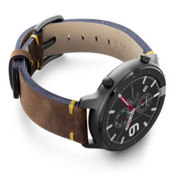 Amazfit-GTR-old-brown-vintage-band-with-display-on-right