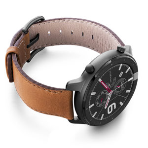 Goldstone-Amazfit-vintage-leather-band-with-display-on-right