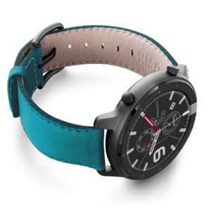 Amazfit-GTR-turquoise-nappa-leather-band-with-display-on-right