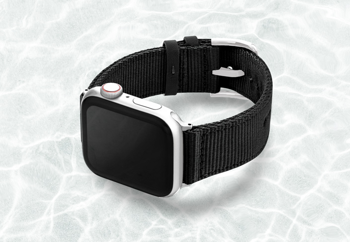 AW-black-tide-recycled-by-ocean-band-44mm-case-on-left-with-stainless-steel-adaptors