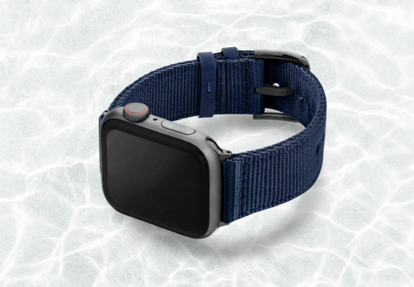 AW-blue-tide-recycled-by-ocean-band-44mm-case-on-left-with-space-grey-adaptors