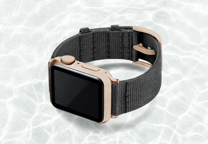 AW-grey-tide-recycled-by-ocean-band-40mm-case-on-left-with-aluminium-gold-adaptors