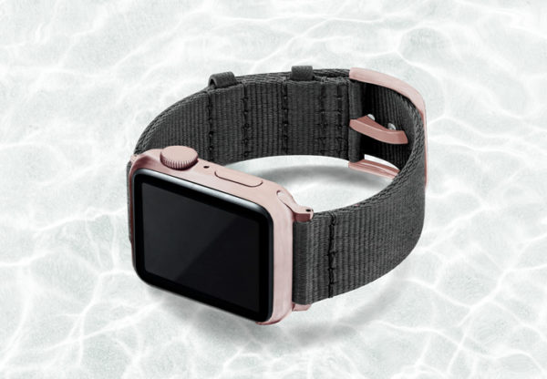 AW-grey-tide-recycled-by-ocean-band-40mm-case-on-left-with-aluminium-rose-gold-adaptors