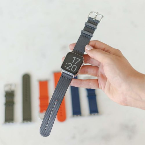 Apple-watch-grey-tide-band-recycled-ocean-plastic-with-all-bands-in-background