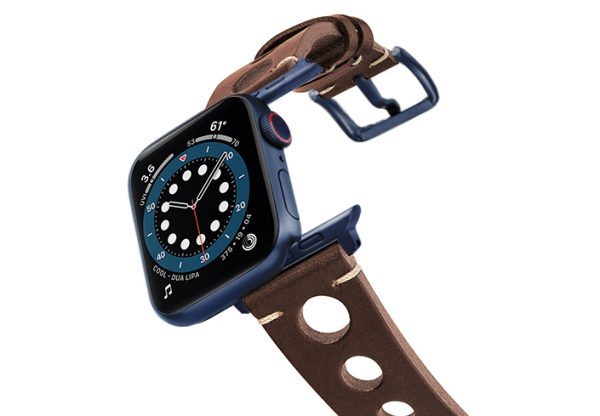 Dark-Brown-AW-urban-leather-band-on-air-space-blue-adapters