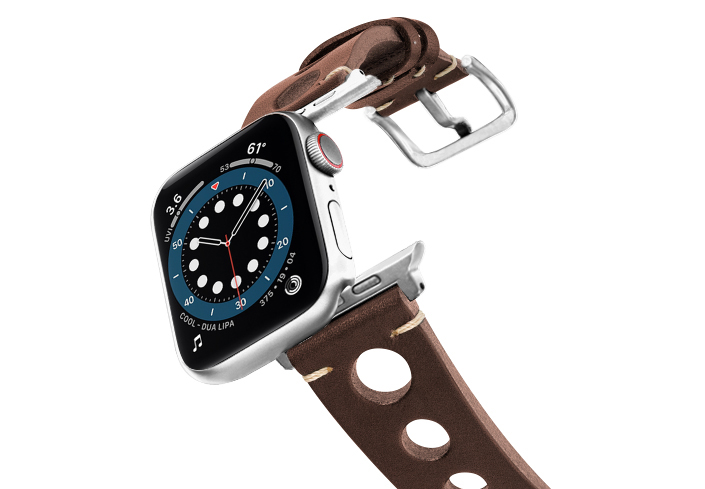 Dark-Brown-AW-urban-leather-band-on-air-stainless-steel-adapters
