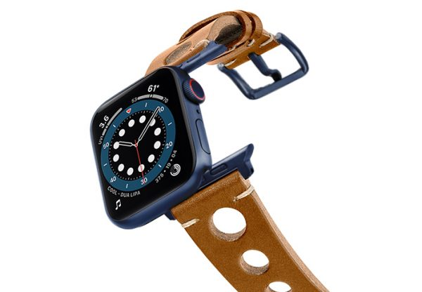 Light-Brown-AW-urban-leather-band-on-air-space-blue-adapters