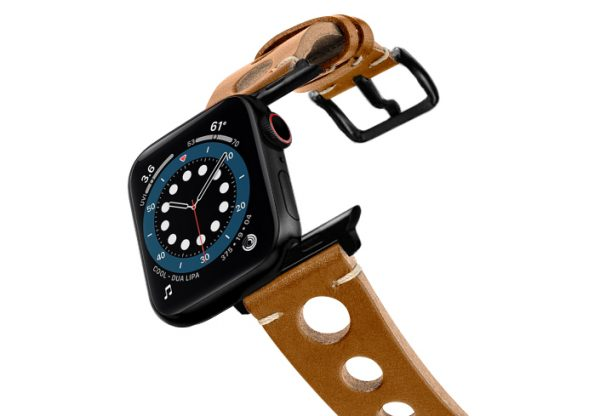 Light-Brown-AW-urban-leather-band-on-air-stainless-black-adapters