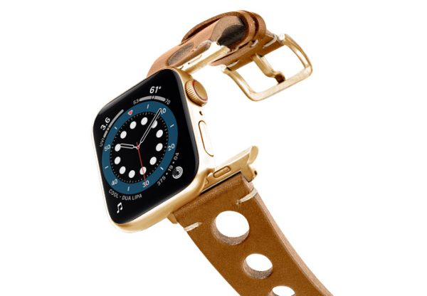 Light-Brown-AW-urban-leather-band-on-air-stainless-gold-adapters