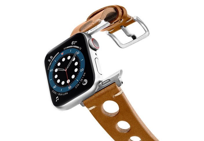 Light-Brown-AW-urban-leather-band-on-air-stainless-steel-adapters