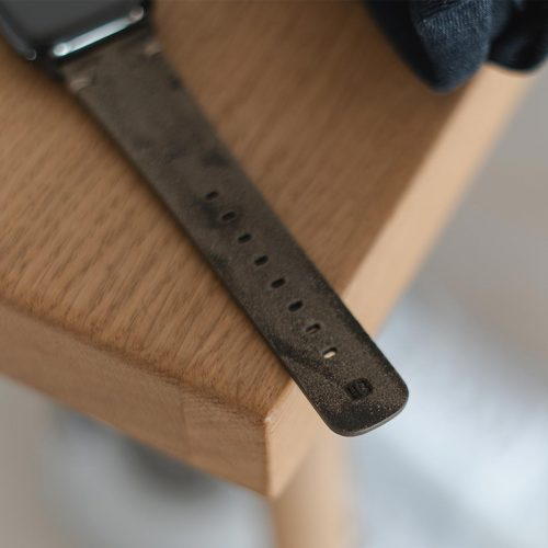 Apple-watch-green-grey-ancient-calf-leather-band-close-up