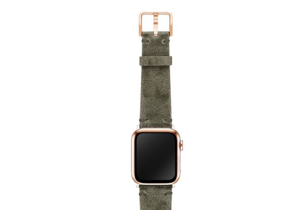 AW-green-ancient-leather-band-on-top-stainless-gold-adapters