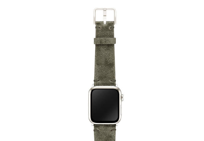 AW-green-ancient-leather-band-on-top-stainless-steel-adapters
