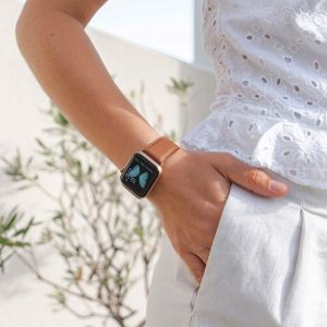 Anurka-Apple-watch-recylced-vegan-band-for-her-sunny-day
